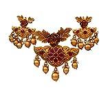 55Carat cobre chapado en oro Multi Red Red-Crystal
