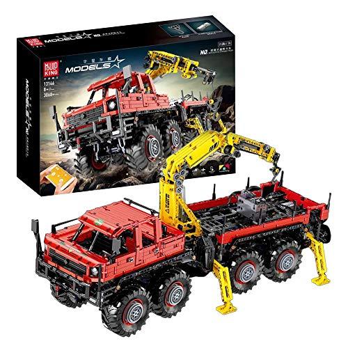 OviTop Technik Geländewagen LKW Model, 3068 Teile Offroader Technic Auto Custom Bausteine mit Power-Funktions Bauset Kompatibel mit Lego Technik