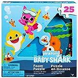 BABY SHARK Puzzle in Morbida e Resistente Gommapiuma Composto da 25 Pezzi