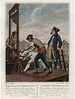 Execution Robespierre Guillotine French Revolution Art Print Canvas Premium Wall Decor Poster Mural