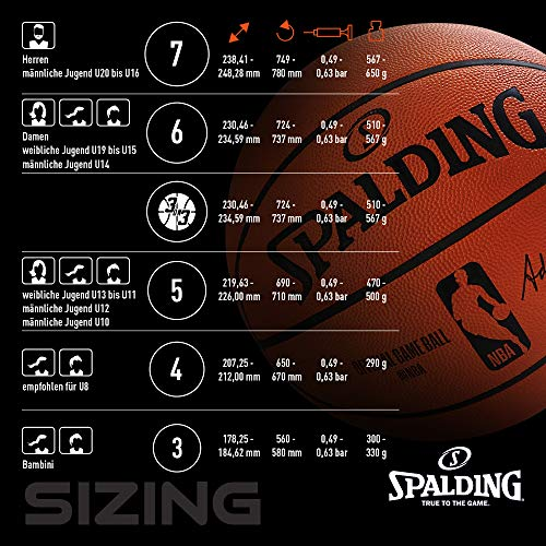 Spalding NBA Team Houston Rockets 83-589Z Balón de Baloncesto ...