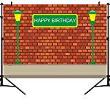 OUYIDA 5X3FT Brick Wall Photography Backdrops Boy Girl Birthday Party Sesame Photo Booth Street Background Baby Vinyl Photo Background Studio Prop PCK58