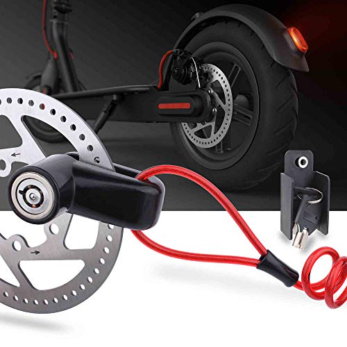 TOMALL Disc Brake Lock Anti-theft Steel Wire Lock For Xiaomi Mijia M365 Motorcycle Bicycle Wheels Locker With Reminder Rope