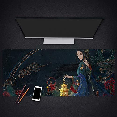 alfombrilla de ratón grande Escritorio Gaming Grande XXL 1000x500x3mm Chica clásica de animación china Alfombrilla para Ratón PC Mouse Pad Impermeable Cojín de Ratón Antideslizante Mousepad para Video