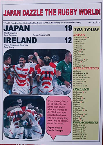 Sports Prints UK Japan 19 Ireland 12-2019 Rugby World Cup - Souvenir Print