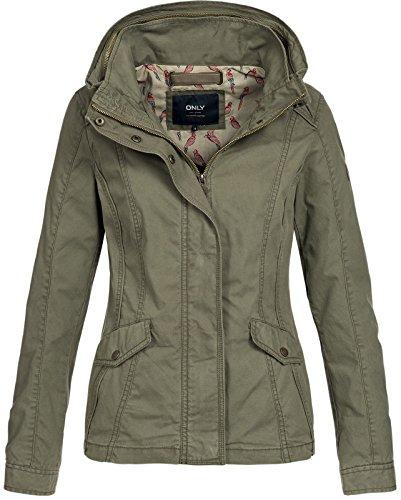ONLY Damen onlDORIS Short Spring Jacket OTW Jacke, Grün (Kalamata Kalamata), 36 (Herstellergröße: S)