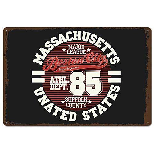 HUANGWW 1Pcs Football Retro Metal Tin Signs Plate New York Shabby Chic Plaque Pub Bar Club Vintage Wall Decor Metal Poster 20X30Cm