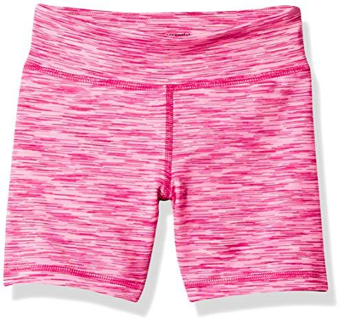 Amazon Essentials Big Girls' Stretch Active Short, Pink Spacedye, XL