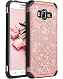 BENTOBEN Compatible with Galaxy J2 Prime Case, Glitter Protective Case for Samsung Galaxy Grand Prime G530/J2 Prime/Grand Prime Plus, Rose Gold