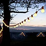yqs Luces de Hadas 23M 25 LED Festoon Lights Bulb String Fairy Lights...