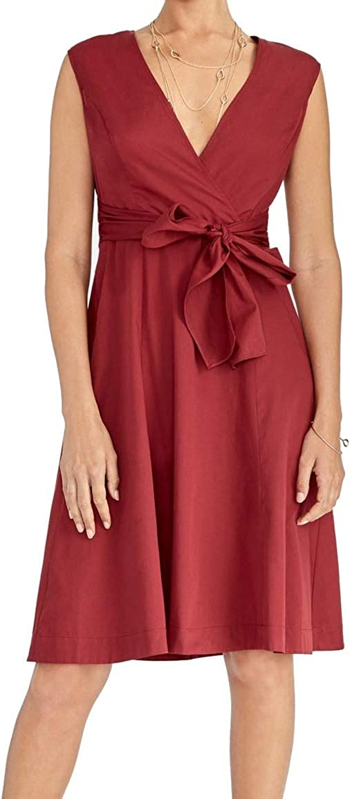 RACHEL Rachel Roy Womens Pearl Casual Sleeveless Factory outlet Selling and selling Tie-Front Dress