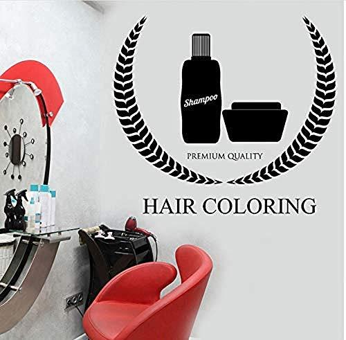 Wandaufkleber Wandbilder Wandtattoo Abziehbilder Haarfarbe Frisur Friseur Logo Logo Poster 63X56cm