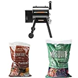 Traeger TFB38TOD Renegade Pro Wood Pellet Grill, Black/Orange with 40 lbs of Pellets