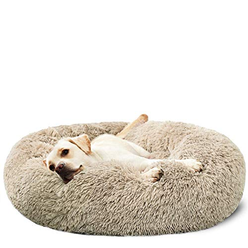 HACHIKITTY Dog Beds Calming Donut Cuddler, Puppy Dog Beds Large Dogs, Indoor Dog Calming Beds Large,30''