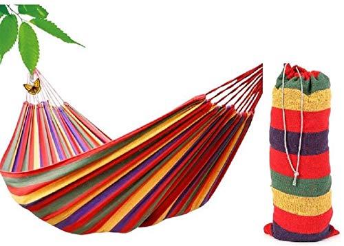 uqubeiganglanbosite Outdoor canvas hangmat, buiten, camping hangmat, tuin hangmat, reizen, jacht, schommel hangmat, belasting 200kg, (190 * 80CM)