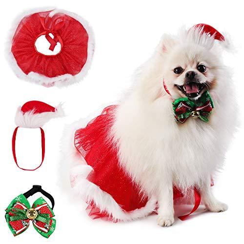 Legendog 3-delig kostuum voor huisdieren, schattige jurk voor huisdieren, mantel voor huisdieren, met hoed voor huisdieren