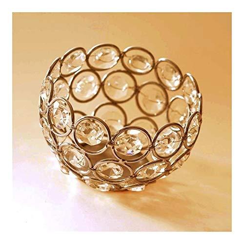 Airlucky Waxinelichtje, goud, zilver, kristallen theelichtje, kandelaar, staander voor bruiloft, tafeldecoratie, Valentijnsdag