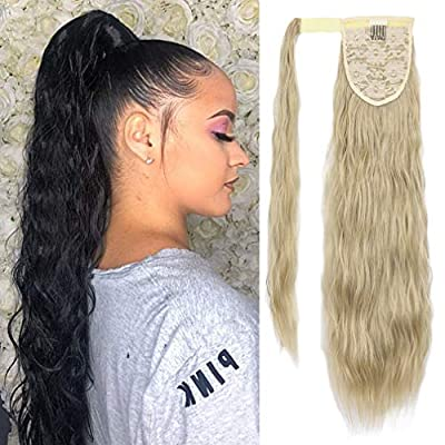 SEIKEA Clip in Ponytail Extension Long Curly Kinky Hair