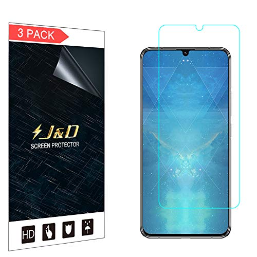 J&D Compatible for Lenovo Z6 Pro Screen Protector (3-Pack), Not Full Coverage, HD Clear Protective Film Shield Screen Protector for Lenovo Z6 Pro Crystal Clear Film
