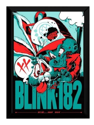 Quadro Banda Blink 182 Arte Poster Moldurado 42x29 Cm