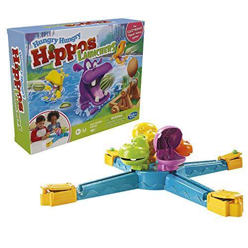 Hasbro Gaming Hippo Flipp Melonenmampfen Spiel für Kinder ab 4 Jahren, elektronisches Vorschulspiel für 2 – 4 Spieler