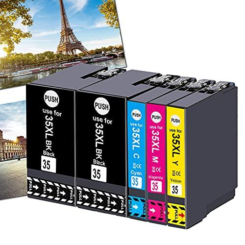 Ogouguan - Cartuchos de tinta compatibles con Epson Workforce Pro wf-4720dwf wf-4730dwf wf-4740dwf wf-4725dwf (2 negro, 1 cian, 1 magenta, 1 amarillo)