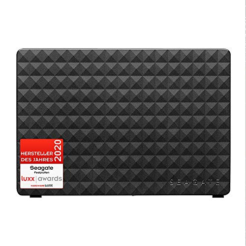 Seagate Expansion Desktop, externe Festplatte 12 TB, 3.5 Zoll, USB 3.0, PC & Notebook, inkl. 2 Jahre Rescue Service, Modellnr.: STEB12000402