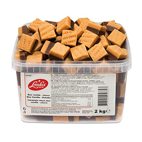 Lonka Fudge Vanille Schokolade Duo 2 kg Dose | Fudge
