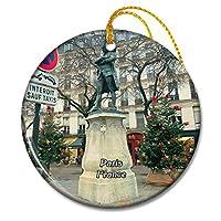 パリフランスルマレクリスマスオーナメントセラミックシート旅行お土産ギフト