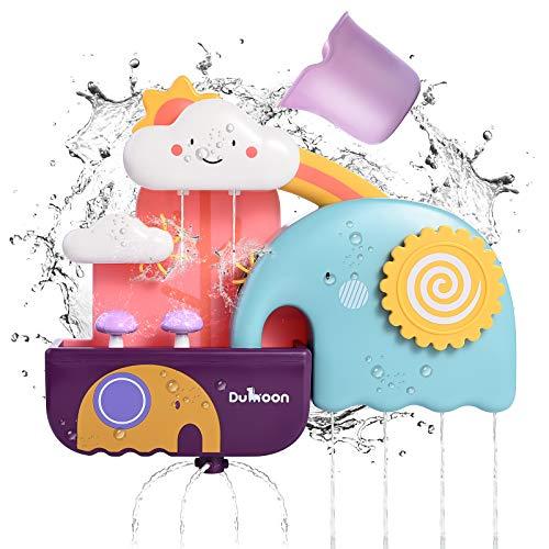 JBSON Badewannenspielzeug,Badespielzeug Kleinkinder Badewanne Spielzeug Spiele Dusche Spielzeug mit Saugnäpfen Wasserfall Spielzeug Set Spaß Bad Zeit Wasser Spielzeug für Babys Kinder Jungen Mädchen