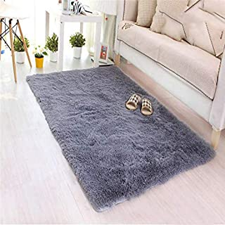 Soft Carpet Livingroom 1 PC 40 * 60CM Fluffy Rugs Anti-Skid Shaggy Area Rug Dining Room Home Bedroom Carpet Floor Mat