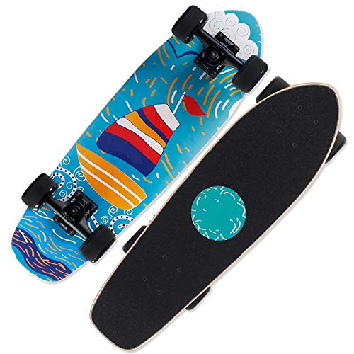 Brush Street Big Fish Board Small Skateboard Boys and Girls Children Young Adults Four-wheeled Beginner Scooters