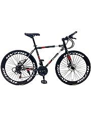 دراجة هوائية RBY50 للبالغين من الجنسين من ام سي ال اس - رمادي/احمر، 26 انش