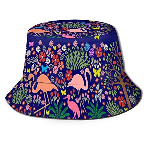 Sombrero de Pesca,Patrón Sin Fisuras con Pintura Pared Frescos Fantasía,Senderismo para Hombres y Mujeres al Aire Libre Sombrero de Cubo Sombrero para el Sol