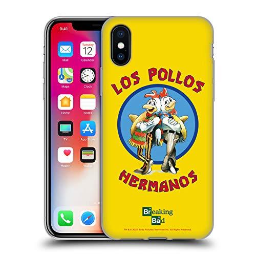 Head Case Designs Licenciado Oficialmente Breaking Bad Los Pollos Hermanos Gráficos Carcasa de Gel de Silicona Compatible con Apple iPhone X/iPhone XS