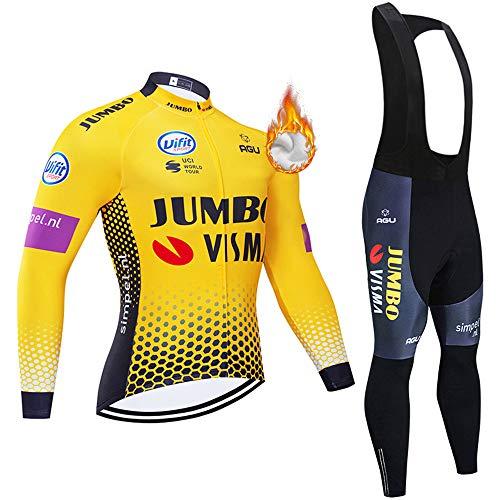Ciclismo Abbigliamento Termico Vello Inverno/Autumn da Bici Manica Lunga e Pantaloni Completo Confortevole Anti-Freddo Magliette Maglia da Ciclismo Nuovo