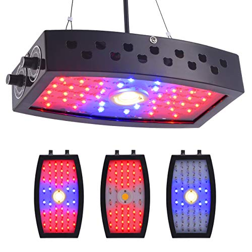 GUANHONG COB LED Grow Light 1000W Ajustable Knobs Full Spectrum Panel Growing Lamp Suitable for Greenhouse Seedling Veg and Flower(Dual-Chips)