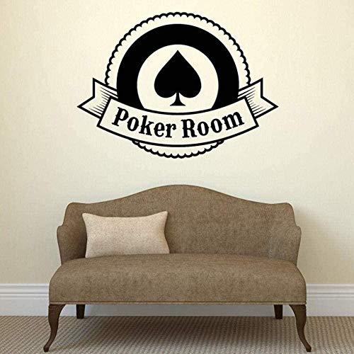 Muursticker wandklok 58 x 80 cm Casino spel poker kantoor meubels slaapkamer van PVC DIY familie woonkamer waterdicht raam