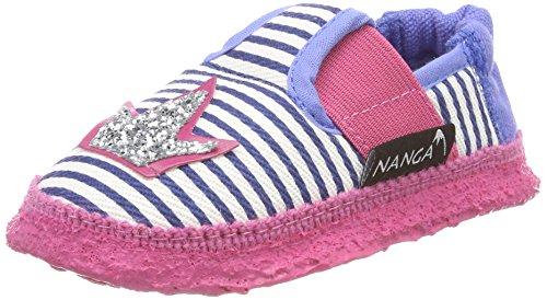Nanga Mädchen Mädchen-Hausschuhe Herzklopfen blau 28