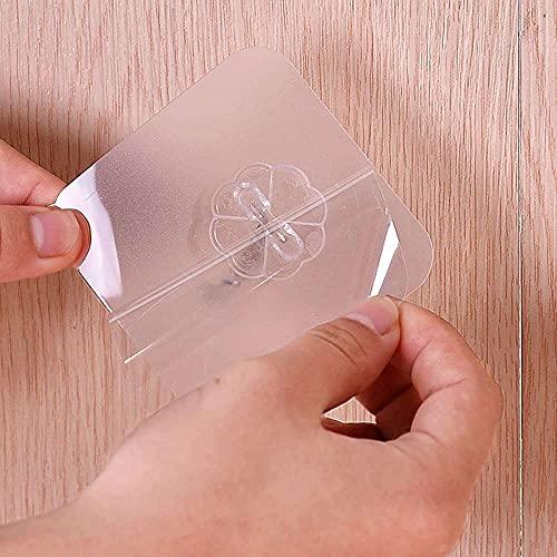 YuKeShop 6 ganchos de pared con ventosa transparente fuerte para cocina, baño