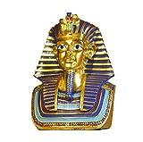 SY-Home Escultura de Figura egipcia, Estatua de Cabeza de faraón Egipcio Museo de artesanía decoración de la Entrada de la casa Vitrina de Vino Adornos de Tutankamón