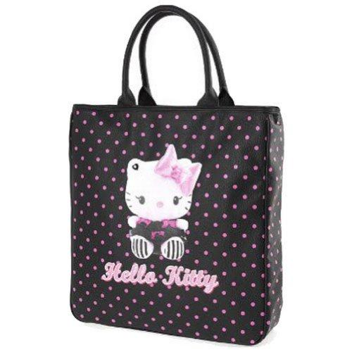 Hello kitty by camomilla - Sac Shopping 42 x 39 x 9.5 cm Dotty - Noir Pois Roses