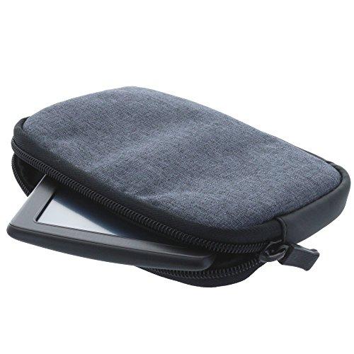 Universal Soft Case Navi Tasche für 5 Zoll (12,7cm) Navigationgeräte passend für Becker/Blaupunkt/Garmin/Tomtom Start Modelle - grau