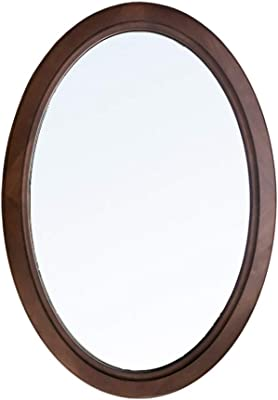 aca6a3a06e11 Solid Wood Bathroom Mirror Dressing Wall Mirror Makeup Round Mirror  Decorative Mirror
