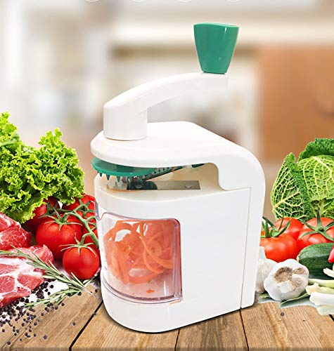 QualityHome - Affettatrice a spirale 4 in 1, con spirale per verdure, resistente, con ventosa potente, noodle a spirale per zucchine, novità occidentali
