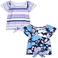 2-Pack The Children's Place Girl's Print Tie Front Top
