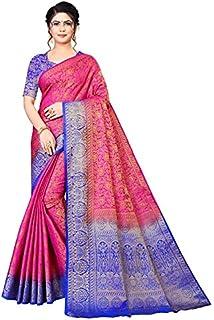 Neerav Exports Kanjivaram Soft Silk With Rich Pallu Traditional Jacquard Saree (Pink)