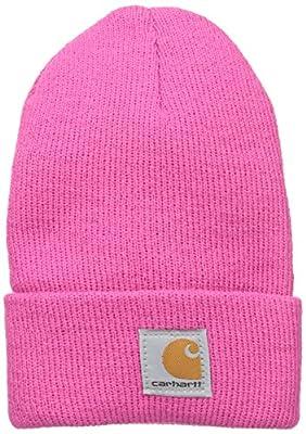 Carhartt Kids' Toddler Girls' Acrylic Watch Hat, Raspberry Rose