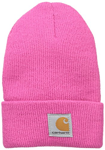 Carhartt Kids' Big Girls' Acrylic Watch Hat, Raspberry Rose, Youth