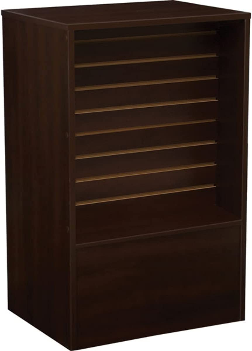 Slatwall Luxury Front Register Stand in Chocolate 24 Max 45% OFF x 18 Cherry W D